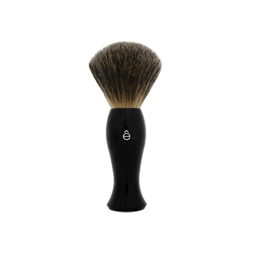 eShave Badger Hair Brush Black Fine